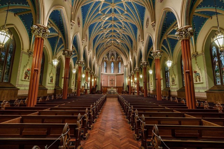St. Mary Church in New Haven, Connecticut, has undergone a renovation-restoration.