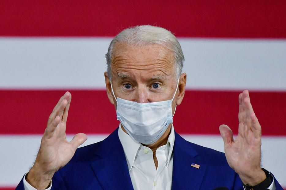 Presumptive President-elect Joe Biden visited Grand Rapids, Michigan on Friday, Sept. 21, 2020, hours after he tested negative for the coronavirus in two separate tests.