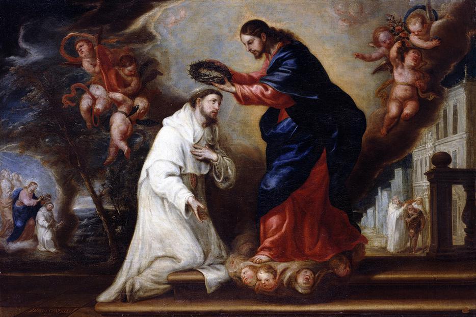 """Diego González de la Vega, """"Saint Raymond Nonnatus Crowned by Christ,"""" 1673"""