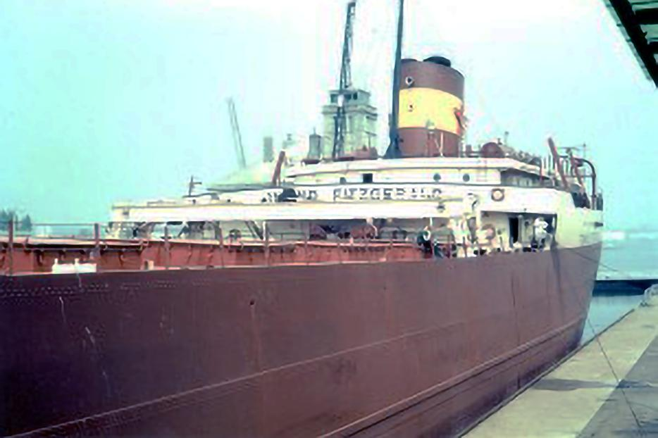 The SS Edmund Fitzgerald in 1973