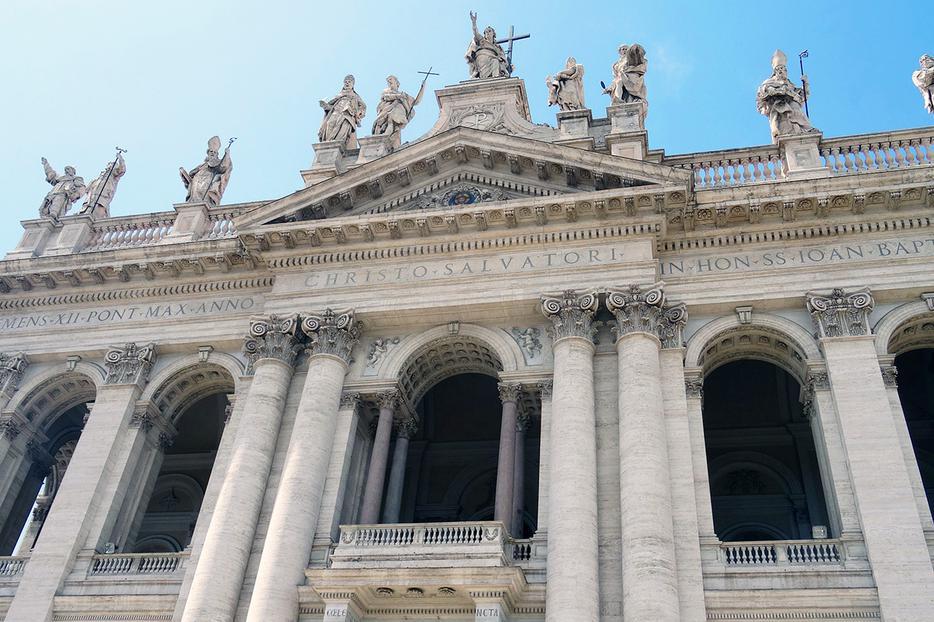 The façade of St. John Lateran