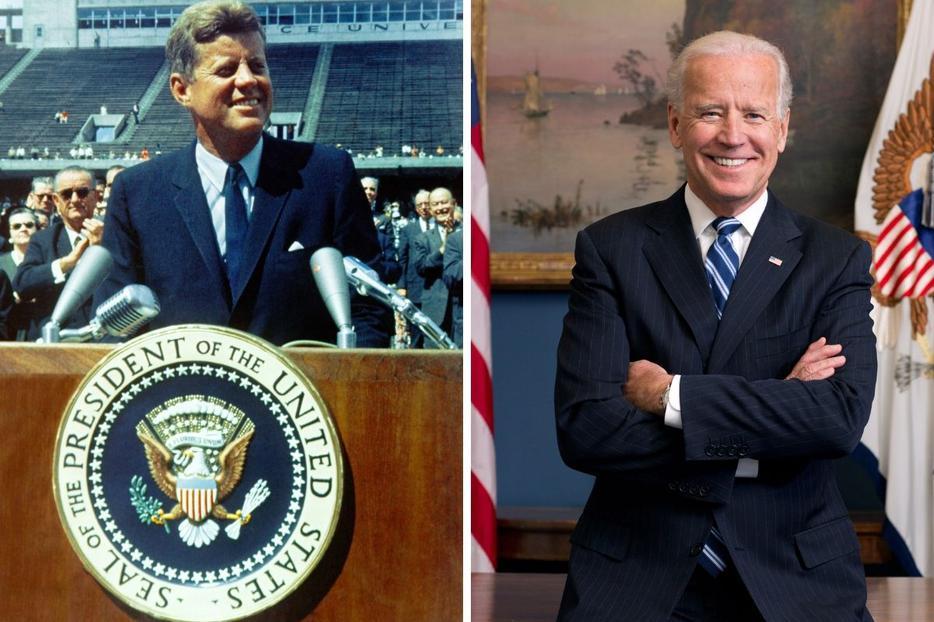 John F. Kennedy (l) and Joe Biden