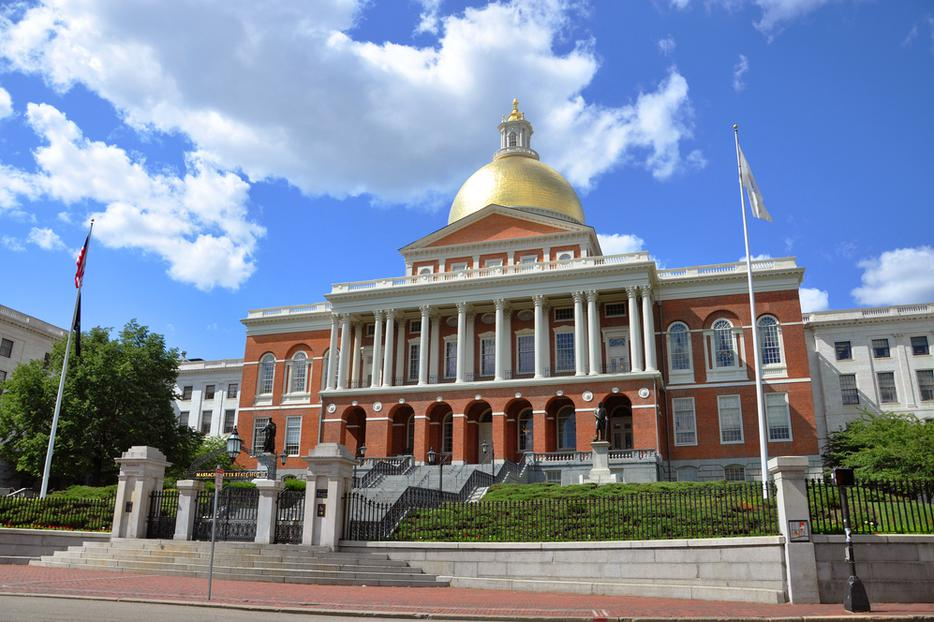 Massachusetts Statehouse in Boston's Beacon Hill.