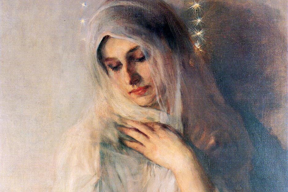 """Herman Richir [1866-1942], """"La Madone"""""""