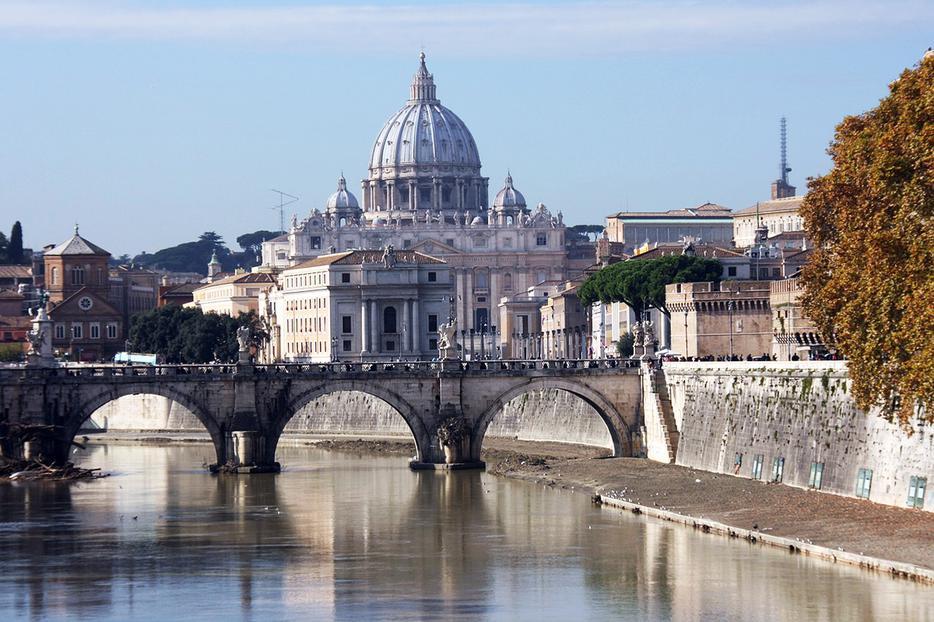 St. Peter's Basilica Near the River Tiber