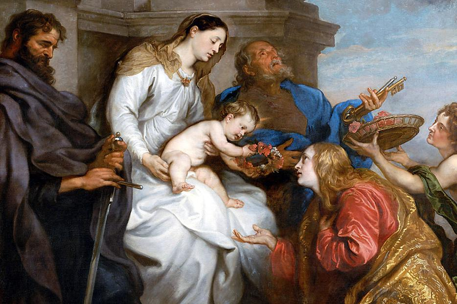 "Anthony van Dyck, ""The Coronation of Saint Rosalia,"" 1629"