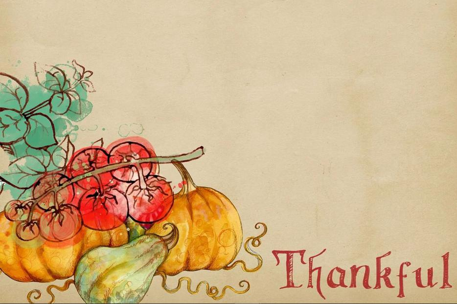 Thankfulness is celebrated on TV in the coming days.