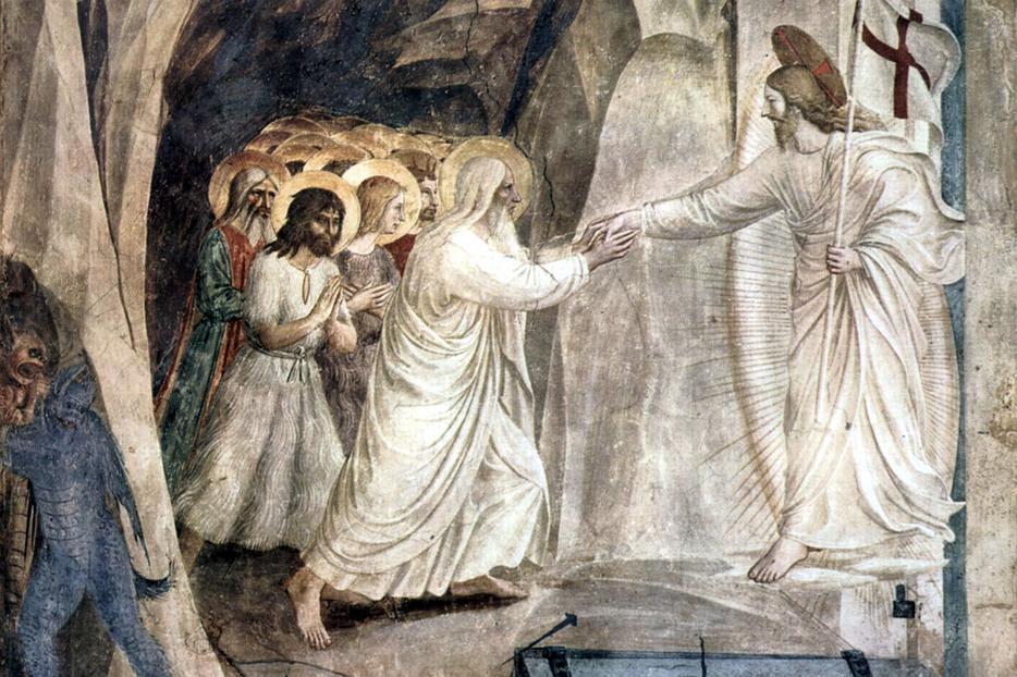 "Fra Angelico, ""Christ in Limbo,"" c. 1442"