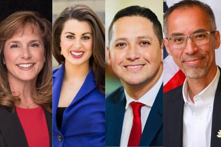 Congresswoman Lisa McClain of Michigan, Minnesota state senator Julia Coleman, Congressman Tony Gonzales of Texas, and Arizona State Rep. Quang Nguyen, R-Prescott.