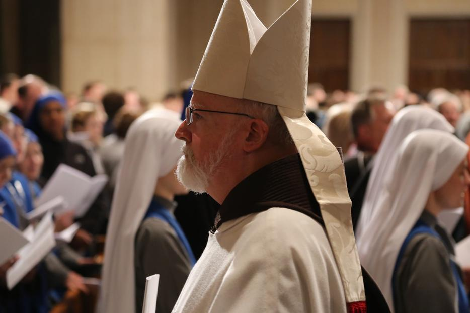 Cardinal Sean O'Malley of Boston attended the Mass for Life at the Basilica of the National Shrine of the Immaculate Conception on Jan. 23, 2020.