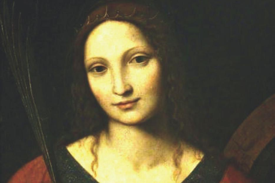 Bernardino Luini's portrait of St. Catherine of Alexandria