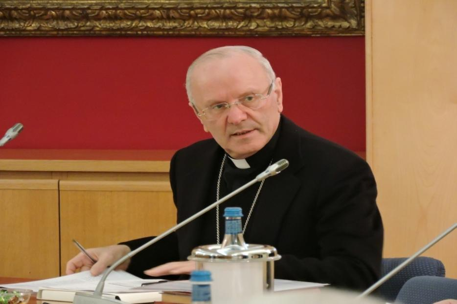 Bishop Nunzio Galantino at the Italian bishops conference permanent council on January 25, 2016.