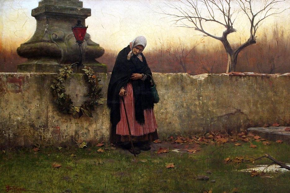 """Jakub Schikaneder, """"All Souls' Day,"""" 1888"""