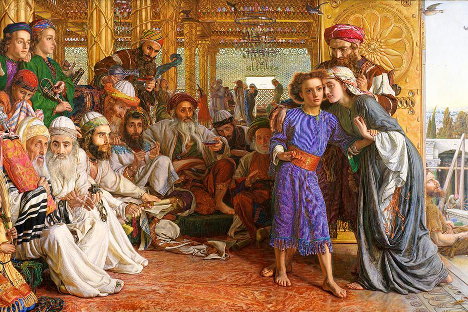 "William Holman Hunt, ""The Finding of the Saviour in the Temple,"" 1854"