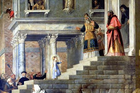 """Titian (1490-1576), """"The Presentation of Mary in the Temple"""""""