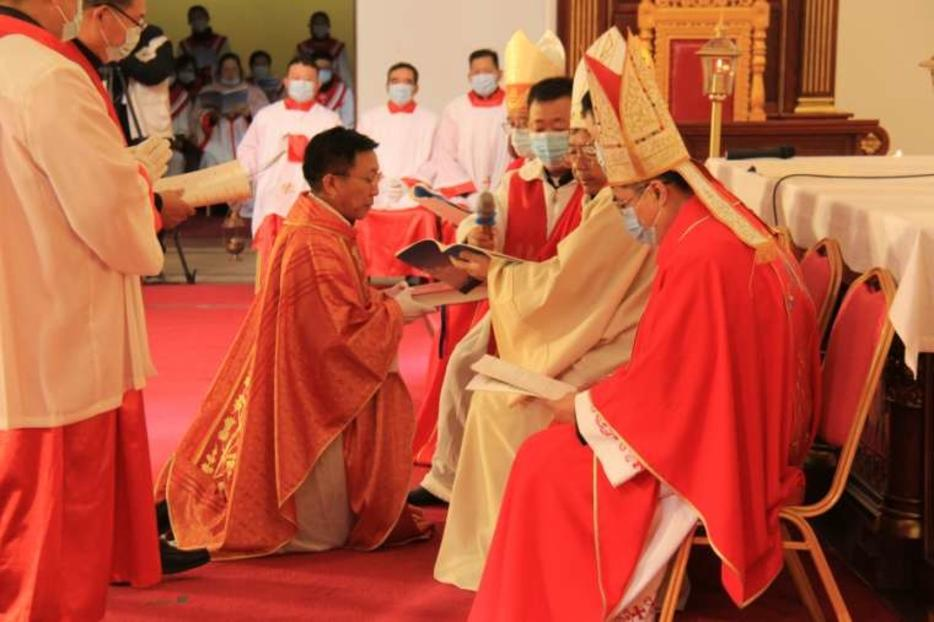 The episcopal ordination of Thomas Chen Tianhao in Qingdao Cathedral, China, on Nov. 23, 2020.