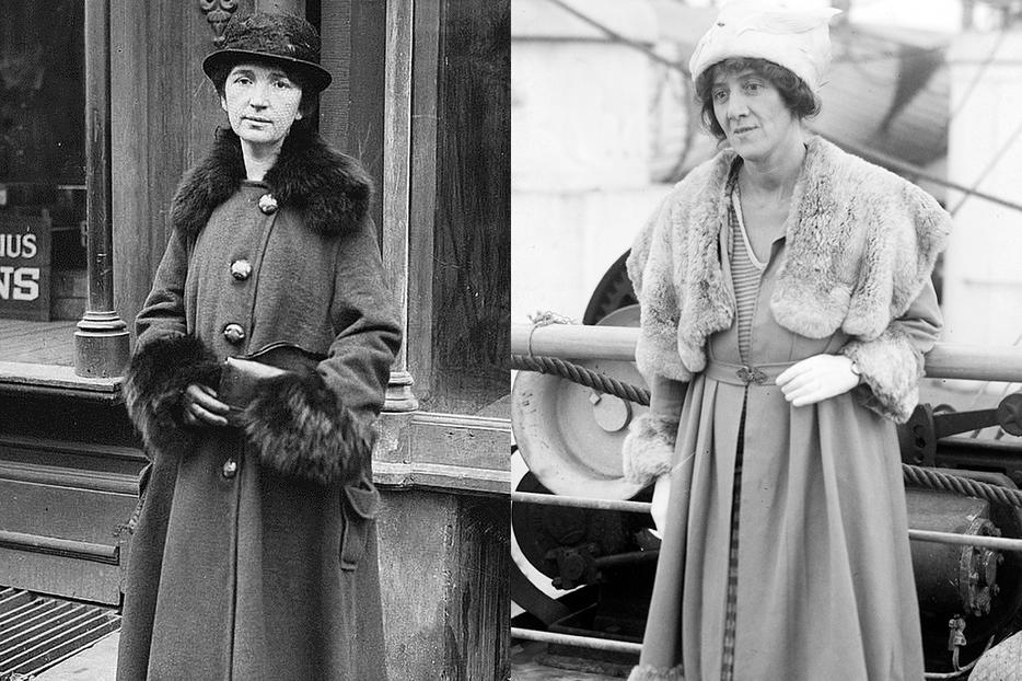 LEFT: Margaret Sanger in 1917. RIGHT: Marie Stopes in 1900.