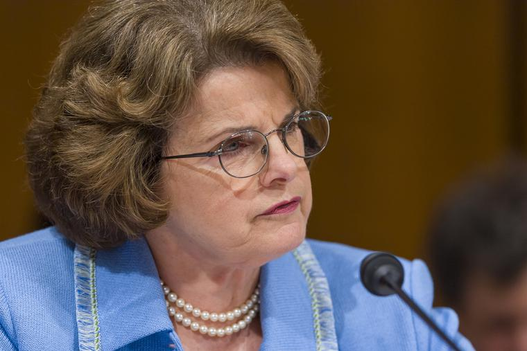 Senator Dianne Feinstein, D-Calif., during the confirmation hearing of U. S. Supreme Court nominee Judge John Roberts.