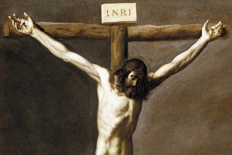 "Francisco de Zurbarán, ""Saint Luke Before Christ on the Cross"" (detail), c. 1635"