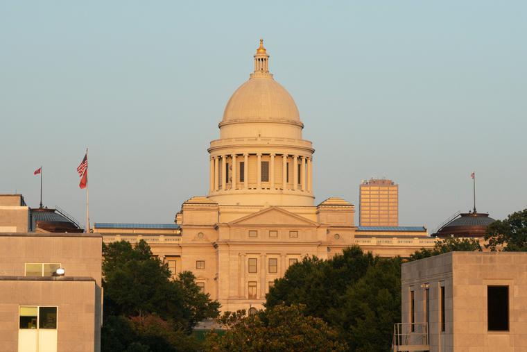 Arkansas Capitol Building in Little Rock, Ark.
