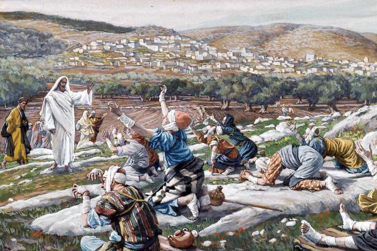 """James Tissot [1836-1902], """"The Healing of Ten Lepers"""""""