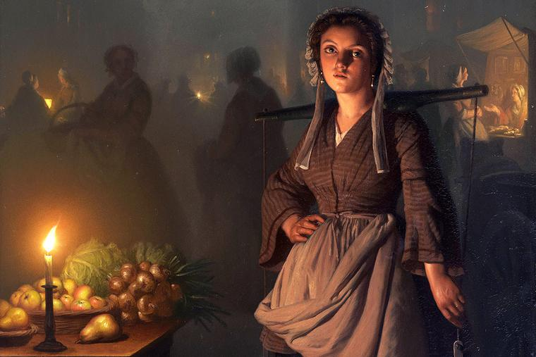 "Petrus van Schendel, ""A Market by Candlelight,"" 1865"