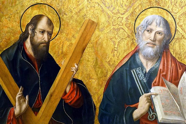 """Fernando Gallego [1440-1507], """"St. Andrew and St. Peter"""""""