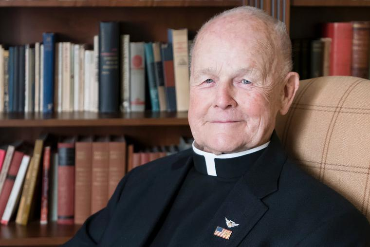 Father Dick Rieman portrait for his 90th birthday