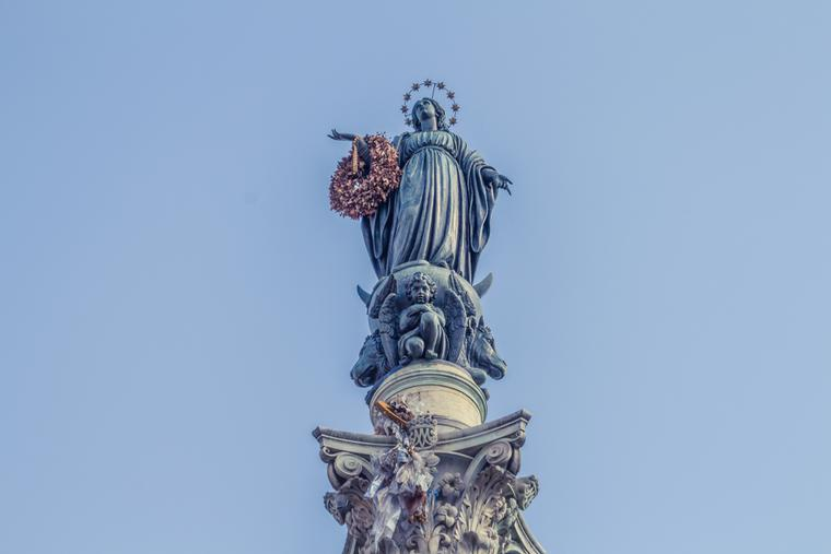 Statue of the Immaculate Conception in Rome.