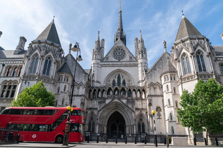 Royal Courts of Justice in London, England.