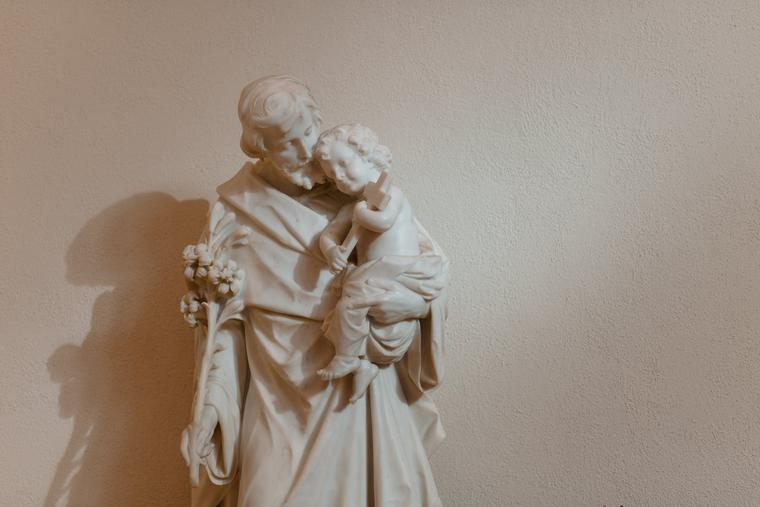 A statue of St. Joseph is seen at the Cathedral-Basilica of the Immaculate Conception in Denver.