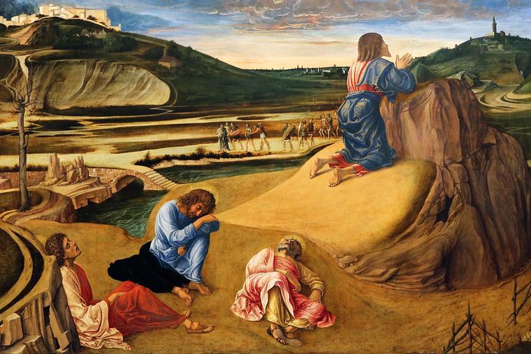 """Giovanni Bellini, """"The Agony in the Garden,"""" c. 1465"""