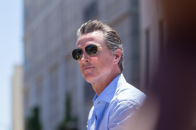 Governor Gavin Newsom of California.