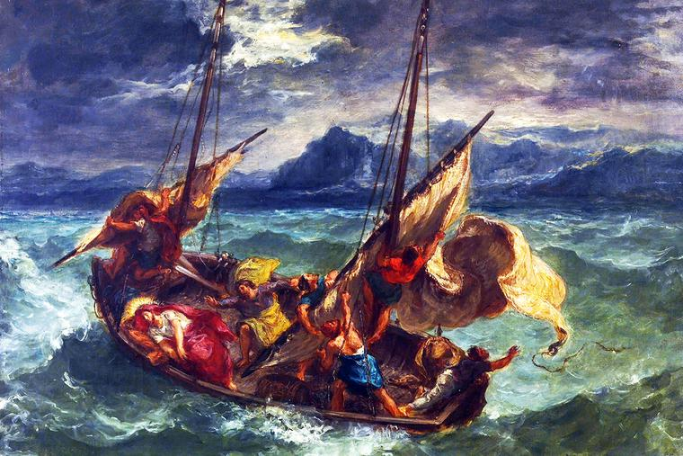 "Eugène Delacroix, ""Christ on the Sea of Galilee,"" 1854"
