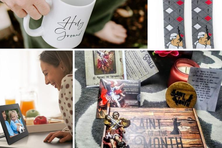 From mugs to saint-related presents, photo frames and socks, gift-giving may be unique this year, but it does not have to lack meaning.