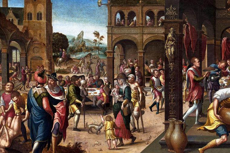 """Brunswick Monogrammist, """"Parable of the Great Banquet,"""" c. 1525"""