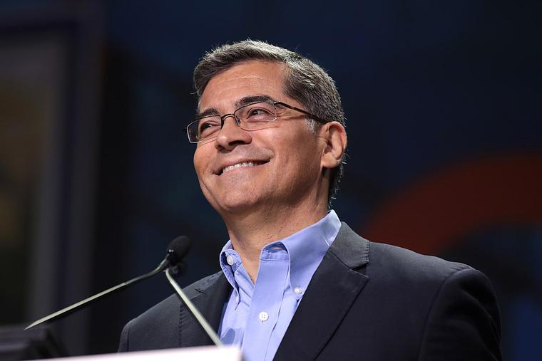 Attorney General Xavier Becerra speaking with attendees at the 2019 California Democratic Party State Convention at the George R. Moscone Convention Center in San Francisco, California.