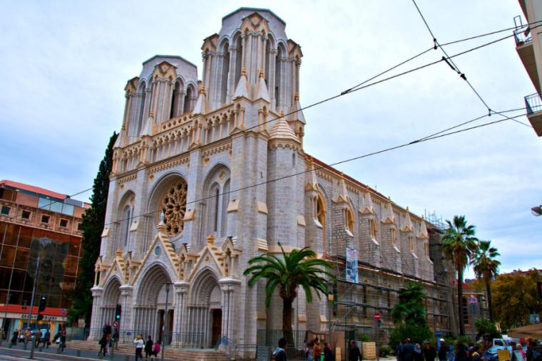 Notre-Dame de Nice, the site of an Oct. 29, 2020 terrorist attack.