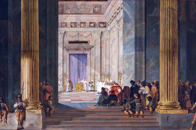 "Salomon de Bray, ""The Queen of Sheba Before the Temple of Solomon in Jerusalem,"" 1657"