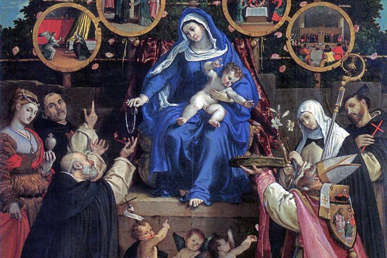"Lorenzo Lotto, ""Madonna of the Rosary,"" 1539"