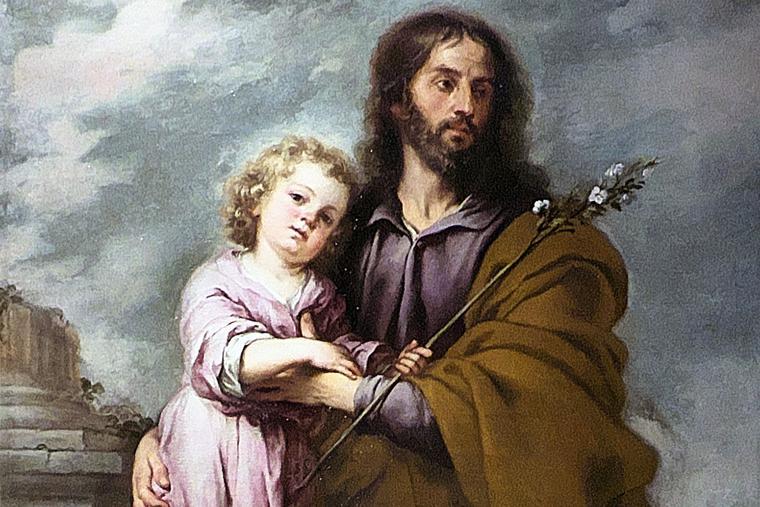 """Bartolomé Esteban Murillo, """"San José y el Niño,"""" c. 1665"""