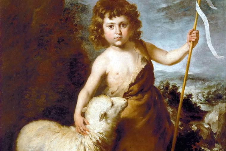 "Workshop of Bartolomé Esteban Murillo, ""John the Baptist as a Child,"" c. 1650"