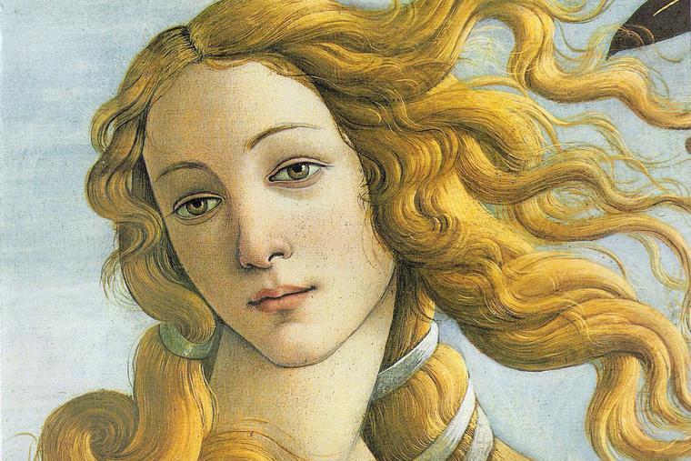 "Sandro Botticelli, ""The Birth of Venus (detail),"" 1485"
