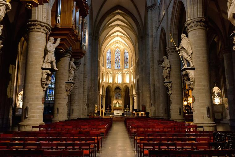 St. Michael and St. Gudula Cathedral in Brussels, Belgium, will not have public Christmas Masses this year; public celebrations have been eliminated due to the pandemic.