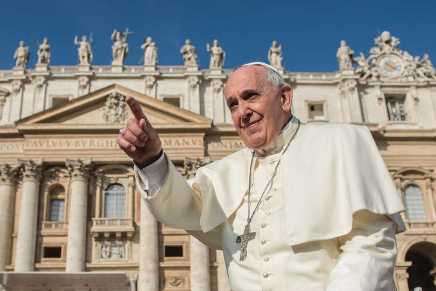 Pope Francis, pictured in St. Peter's Square Oct. 8, 2014.