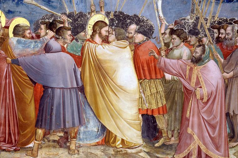 "Giotto, ""The Kiss of Judas,"" c. 1305"
