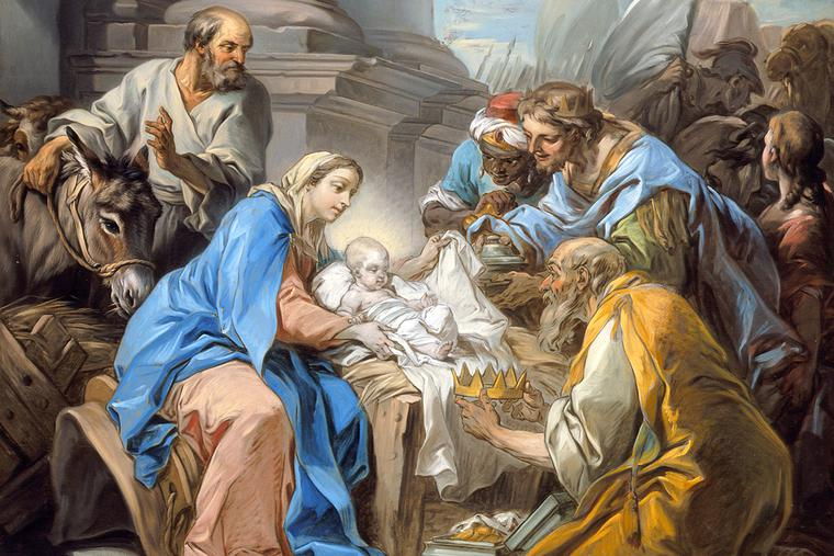 """Charles-André van Loo, """"The Adoration of the Magi,"""" c. 1760"""
