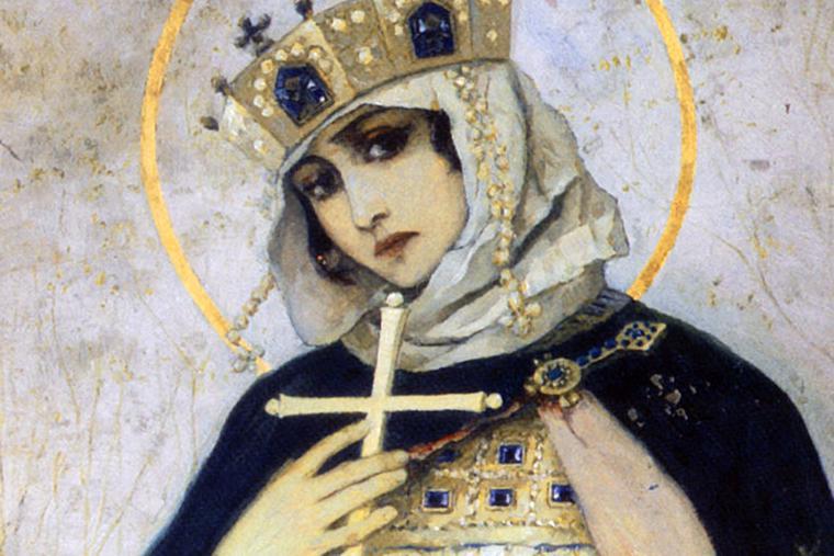 """M. Nesterov, """"Princess Olga,"""" Vladimir Cathedral, 1892"""