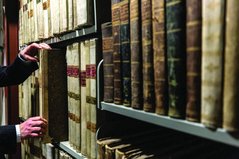 The Vatican Secret Archives documents on the pontificate of Pope Pius XII are shown Feb. 27. On March 2, the Vatican Apostolic Library opened the Holy See's wartime archives on the pontificate of Pius XII between the years 1939 and 1958.