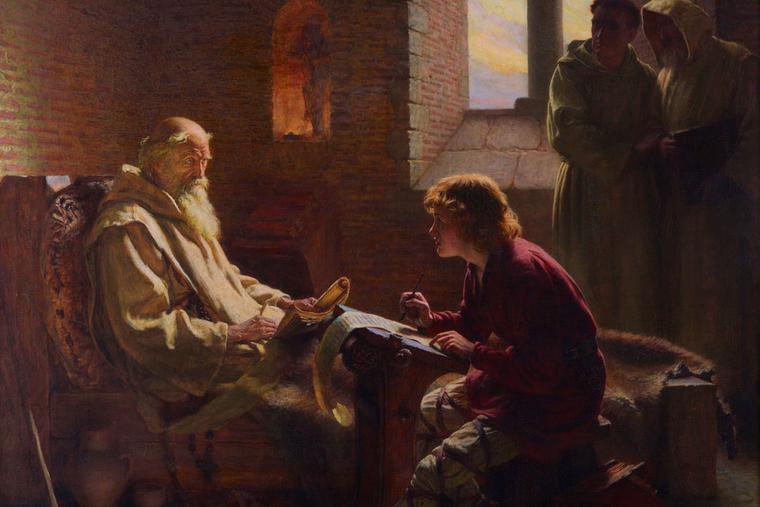 "James Doyle Penrose [1862-1932], ""The Venerable Bede Translates John"""
